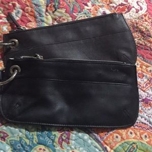Two clutches/wristlets Brown and a Black!